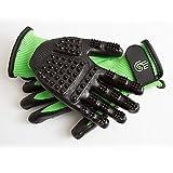 HandsOn Revolutionary Grooming/Bathing Gloves for Pets Green Size Medium