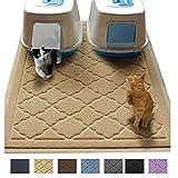 Easyology No es tóxica tamaño Jumbo Cat Litter Alfombrilla | 47x 36en | Scatter Control para Basura