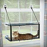 K&H Mascotas| Soporte EZ para Ventanas | Cama para Gatos de Dos Alturas Que se acopla en el umbral de la Ventana