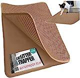 * * Jumbo Tamaño * * Cat Litter Trapper-EZ limpiar (Gris Oscuro)-32pulgadas por 30pulgadas de Super Big. A prueba de agua de color marrón y capa y cachorro Pad Opción....