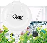 Hygger 1.5W Mini Bomba Aire per 1L-50L Acuario, Silencioso Oxigenador Pecera with Accesorios (Blanco)