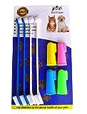 RosyLife Mascotas Perro Suave Cepillo de Dientes Food Grade Material Pet Cepillo de Dientes Higiene Dental cepillos para pequeñas y Grandes Perros