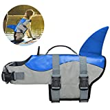 COVVY Chaleco Salvavidas para Perro Chaleco de Seguridad Ajustable Salvavidas Chaleco Flotador para Mascota arnés de natación Perro Chaleco Salvavidas (S, Azul)