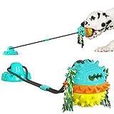 Juguete masticable para Perros con Ventosa,Pelota de Goma para Perros,Juguete Molar para Perros,Juguete Interactivo para Perros Limpieza de Dientes para Mascotas