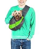 Cuddlissimo! Bolsa de transporte para mascotas – Pequeño perro gato Sling bolsa de transporte seguro reversible cómoda lavable a máquina, bolsa ajustable de un solo hombro bolso de mano para mascotas de menos de 6 lb