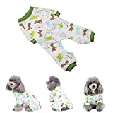 TOPINCN Cachorro De Perro Algodón Mono Gato Pequeño Mascota Mamelucos Pijamas Ropa Suave Cómodo Ropa para Mascotas Inicio Traje Diario(M)