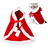 WELLXUNK® Disfraces para Perros Y Gatos Navidad, Disfraz para Mascotas Navidad, Capa De Mascota Navidad, Ropa Mascotas Navidad, Usado para Fiesta De Cosplay De Navidad para Mascotas (M1)