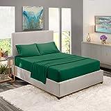 Nestl Bedding - Juego de sábanas de cama de 1800 hilos para colchón alto - Sábanas de lujo de microfibra con doble cepillado - Sábana bajera ajustable, sábana encimera y fundas de almohada