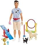 Barbie Ken Entrenador de Perros con Muñeco y Perritos (Mattel GJM34)