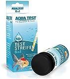 Mr. Petz Aqua Test - 60 Tiras de medición Test Agua Acuario - Kit Acuario de Prueba rápida 6 en 1 - Accesorios para acuarios y terrarios Tropicales Agua Salada o Fría - 6 Indicadores Calidad del Agua