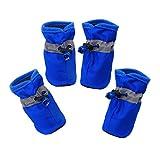 YAODHAOD Protector de Pata de Botas para Perros, Zapatos para Perros Antideslizantes, Estos Cómodos Zapatos Suave Tienen Correas Reflectantes, para Perros Pequeños (2, Rojo)