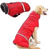 Petneces - Abrigo de invierno para perro con forro polar cálido y resistente al agua y reflectante para el invierno