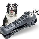 HETOO - Juguete para perros, cepillo de dientes para perros indestructible y duradero, juguete masticable para masticadores agresivos, para el cuidado y la limpieza dental de los perros