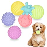 6pcs Juego de Juguete para la dentición del Perro,Mordedor Perro Juguete para perros medianos y pequeños,Pelotas de Juguetes interactivos para Perros,Goma Juguete Perro,para Limpieza de Dientes