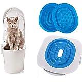YOHAPPY Kit de entrenamiento de inodoro para gatos, 40 x 40 x 3,5 cm, ABS para entrenar a tu gato para usar el inodoro para gatos y gatitos