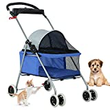 Blue Posh Pet Stroller by BestPet