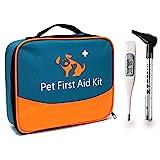 iBaby-Fish Kit de Primeros Auxilios para Mascotas con termómetro y otoscopio Veterinario, para el Cuidado Diario en el hogar y Primeros Auxilios externos