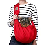 Tomkas Pequeño perro gato portador Sling manos libres mascota cachorro al aire libre bolsa de viaje bolsa reversible