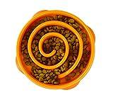Outward Hound Fun Feeder Slo Bowl - Comedero con Obstáculos - Naranja - Mini/Mediano, L, Naranja 295 g
