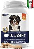 Pet Deluxe Tabletas Masticable - Colágeno, Glucosamina y MSM - Suplementos para Mascotas - Condroprotector Perros - para Todos los Perros
