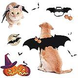Disfraz de Halloween para Mascotas, Disfraz de alas de murciélago, Disfraces de Gato y murciélago, Disfraz de Perro de Halloween, Disfraces de Halloween para Perros y Gatos (M)