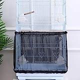 POPETPOP Cubierta para jaula de pájaros, atrapasueños de semillas, jaula de pájaros, malla de nailon, protector de falda, color