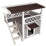 Petsfit - Casa/Condo/Refugio para Gatos de 2 Pisos con Escalera