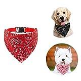 Shengruili Collar con Bandanas para Perro,para Collar de Perro Triángulo,Pañuelos para Perros,Baberos para Mascotas,Cuello PañUelo para Perros,Bandana Lavable para Perro,Pajaritas para Mascotas (E)