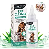 PINPOXE Limpiador de Oidos para Perros, Limpiador Oidos para Perros y Gatos, Adecuado para Perros, Gatos y Otras mascotasLimpia, desodoriza, Elimina los olores, 60 ml