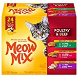 Meow Mix Tender Favorites Poultry and Beef Variety Pack Wet Cat Food, 2.75Ounces, 24-Count by