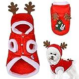 DriSubt Ropa Navideña Para Perro, Mascota Perro Gato De Navidad Disfraz, Perro Ropa De Invierno Chaleco Traje De Navidad, Traje De Mascota, Decorativa De Navidad, Abrigo De Cálido (M)