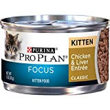 Purina Pro Plan Wet Cat Food, Focus, Kitten Chicken and Liver Entr?E, 3-Ounce Can, pack of 24 by Purina Pro Plan