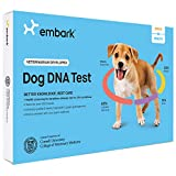 Embark Veterinary ADN Perro de Prueba | La identificación de la Raza | 160 Resultados de la Salud | 200K marcadores genéticos 1 Paquete Blanco Negro