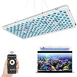 Relassy Panel de luz LED para Acuario, Control de App Espectro Completo, Panel de luz LED de Arrecife de Coral para Agua Salada y Dulce con Temporizador de Encendido/Apagado automático y Regulable.