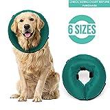 Rincon - Collar de recuperación Inflable para Perros y Gatos, Cono Suave para Mascotas Que no bloquea la visión, diseñado para Evitar Que Las Mascotas toquen Puntos, heridas y erupciones.