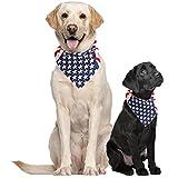 Costume Adventure EE.UU. Pañuelo para Perros Pañuelo Grande de la Bandera Americana Americana Perro con pañuelos de la Bandera para los Perros pañuelos para Perros Grandes Media o Collar tamaño