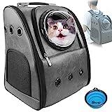 Mochila transportadora para perros y gatos PETRIP, mochila para gatos grandes de 22 libras, mochila para perros medianos y gatos, mochilas de burbujas, para senderismo, aerolíneas, mochila para mascotas, mochila para transportar mascotas