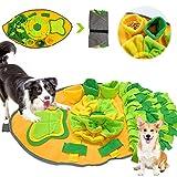 Sunshine smile Alfombra para Perros,Juegos para Perros y Rompecabezas,Estera de Entrenamiento,Juguetes interactivos para Perros,Alfombrilla de alimentación,Olfatear Mascotas,Dog Dog Puzzle (A)