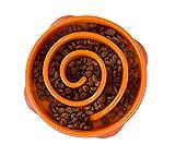 OUTWARD HOUND - Fun Feeder Orange Dog Bowl Small - 8.5' Diameter