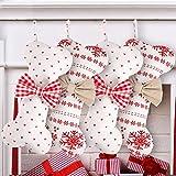 4 Piezas de Calcetín de Navidad de Arpillera Calcetines de Hueso de Perro de Navidad Bolsas de Regalos de Mascotas de Navidad Adornos Colgantes para Decoraciones Navideñas de Vacaciones Familiares