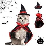 Capa de Mascota para Halloween,Halloween Gato y Decoración de Perro,Vampiro Ropa para Mascotas,Disfraz de Mascota de Halloween,Halloween Navidad Vacaciones Cosplay Fiesta Mascota