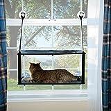 K&H PET PRODUCTS K&H Mascotas| Soporte EZ para Ventanas | Cama para Gatos de Dos Alturas Que se acopla en el umbral de la Ventana