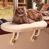 K&H Mascotas   Soporte para Gatos  Cama cornisa para Gatos recubierta de Microfibra