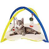 Alfombrilla Para Gatos Con Juguetes Colgantes 3 Bolas, 1 Ratón - Juguetes Para Gatos Interactivos, Centro De Actividades Para Cachorros