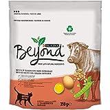 Beyond PURINA Croquetas Gato Rico en Carne de Vacuno con Cebo Integral, 8 Bolsas de 350 g Cada una