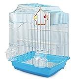 BPS Jaula Pájaros Metal con Comedero Bebedero Columpio Saltador Cubeta Color envia al Azar (33 x 26 x 46 cm) BPS-1233
