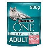PURINA ONE Bifensis Pienso para Gato Adulto Salmón y Cereales 8 x 800 g