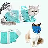 GuangZhou Bolsa de aseo para lavar el baño, el gato, la ducha para perros, bozal para gatos, el cuidado del pelaje, el baño de ducha, la inyección, medicamentos y cortes (verde)