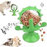 ZoneYan Juguete Giratorio Gato, Juguetes Gato Molino de Viento, Juguetes Gatos con Ventosa, Juguetes Interactivos de Giratorios, Juguete Alimentador de Juguete para Gatos, Juguete Giratorio Mascotas