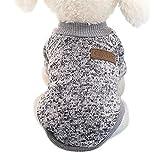 Idepet - Ropa para mascotas: jersey de forro polar para perros y gatos, XL, Gris